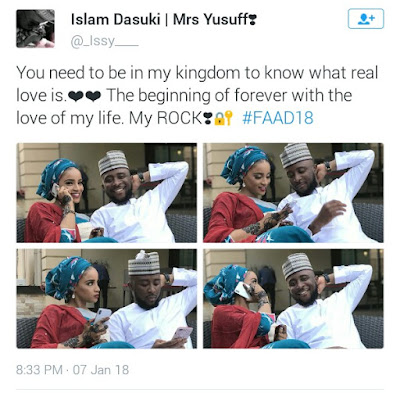 """Photos: Lagos meet Kano! """"I bless the day I slid into that DM"""" - Yoruba man is totally smitten with his very beautiful Hausa bride"""