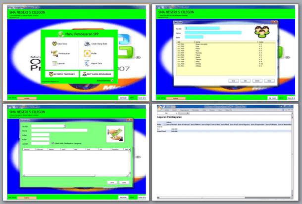 Aplikasi Pembayaran Tabungan Siswa dan SPP Format Microsoft Excel