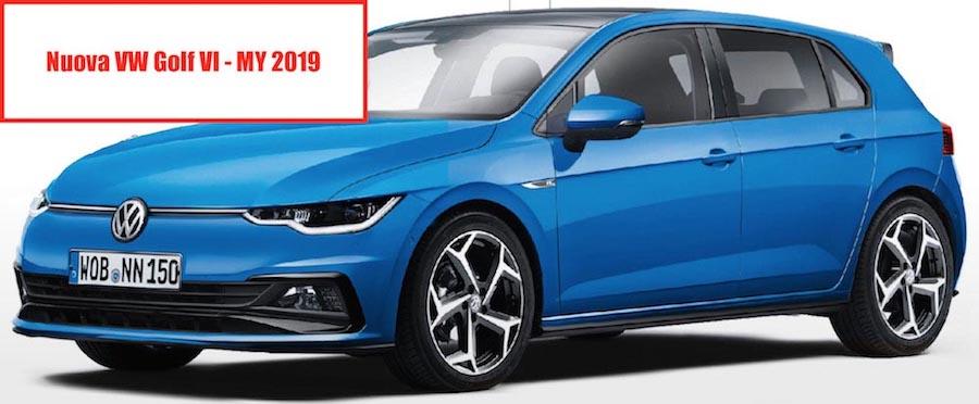 Nuova Volkswagen Golf 2018_2019 frontale