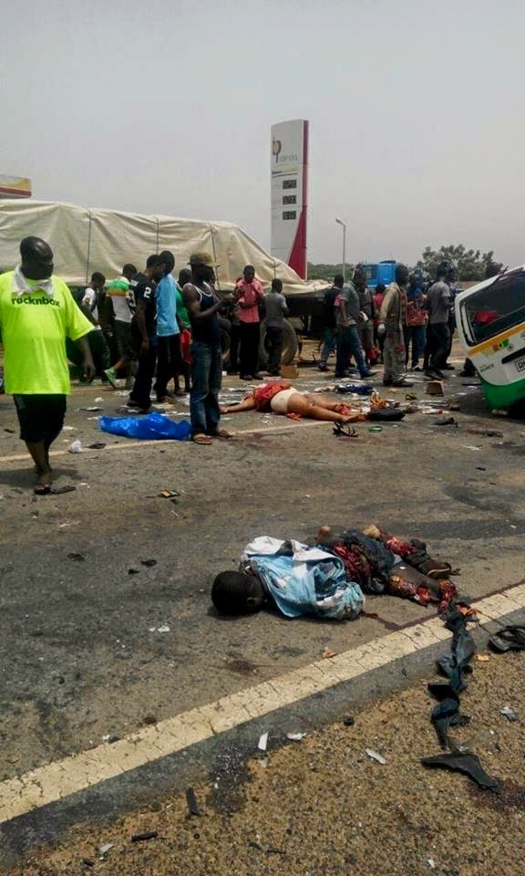 Photos All 18 Passengers Dead In Tema Dawhenya Road Accident