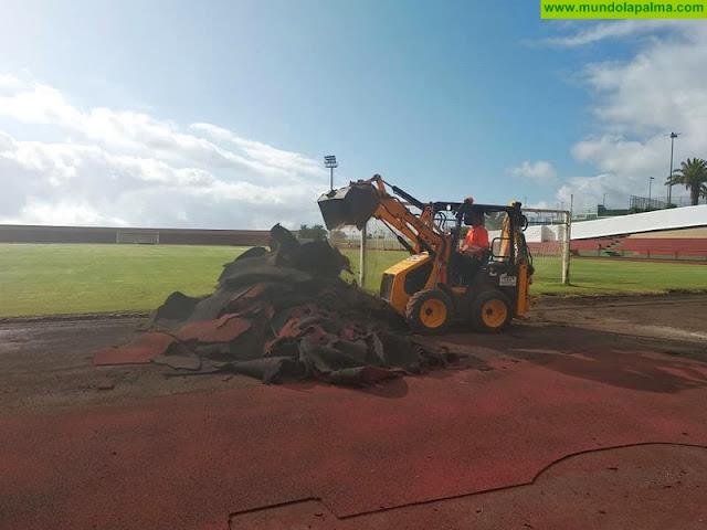 El Cabildo garantiza una nueva vida útil de diez años a la pista de atletismo de la Ciudad Deportiva de Miraflores