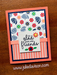 Stampin' Up! Happiness Blooms Incredible Like You Floating Pop-Up Card + Video Tutorial ~ www.juliedavison.com