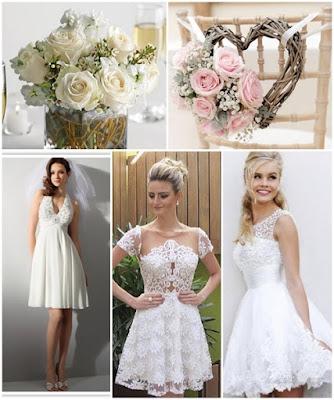vestidos de noivas curtos