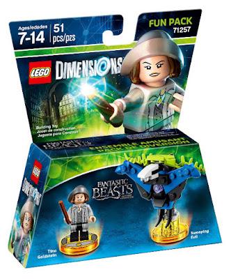 TOYS : JUGUETES - LEGO Dimensions  71257 Animales fantasticos y donde encontrarlos : Fun Pack Tina Goldstein & Swooping Evil Fantastic Beasts and Where to Find Them    | Figuras - Muñecos - Videojuegos  2016 | Piezas: 51 | Edad: 7-14 años Comprar en Amazon España & buy Amazon USA