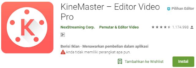 Apa nama aplikasi untuk edit video?