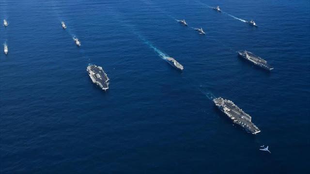 Tres portaaviones de EEUU se suman a maniobras frente a Corea