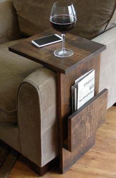 decoração reciclada braço sofá madeira