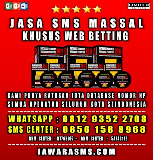 Jasa SMS Massal Web Betting Khusus Situs Judi Online