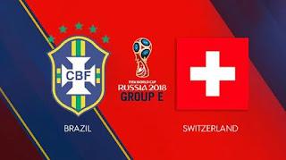 Susunan Pemain Brasil vs Swiss - Piala Dunia 2018