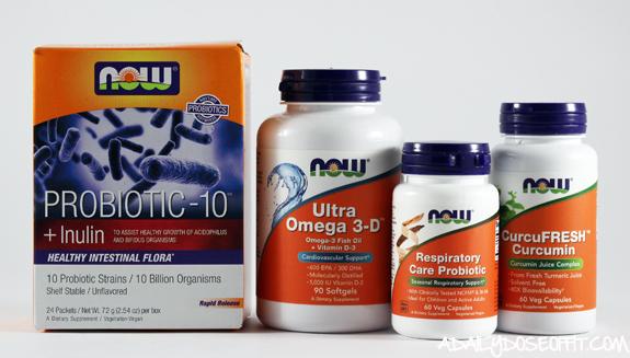 probiotic, fiber, curcumin