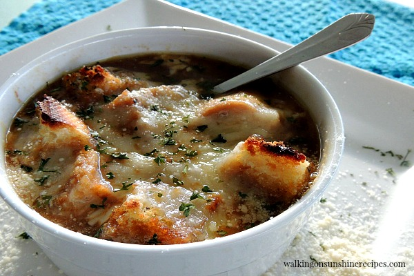 French Onion Soup FEATURED photo from Walking on Sunshine