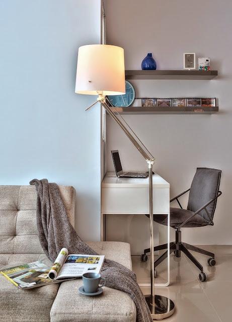 Kitnet ou Quitinete decorada 32m²: perfeição de mini apartamento. Blog Achados de Decoração