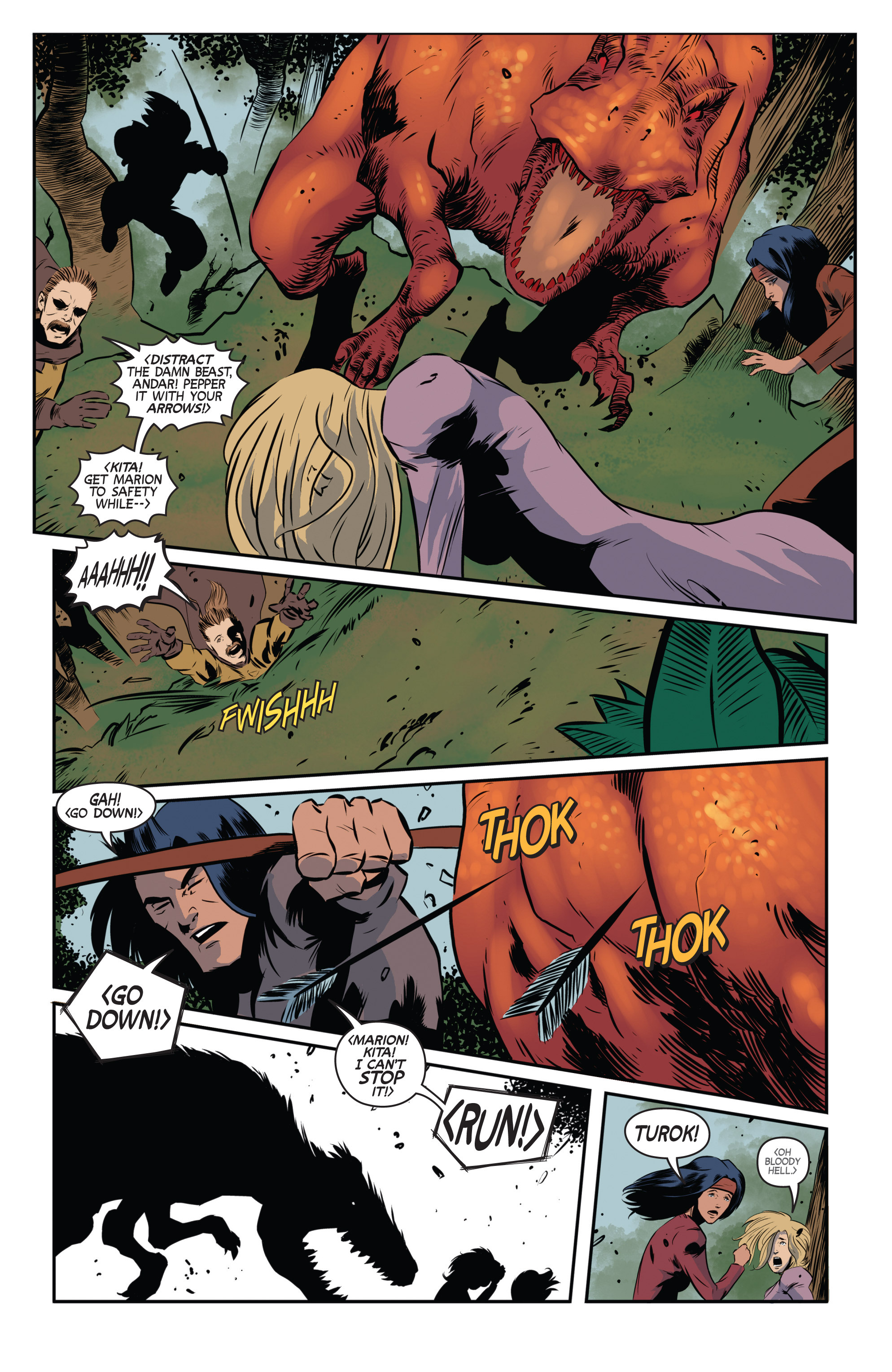 Read online Turok: Dinosaur Hunter (2014) comic -  Issue # _TPB 3 - 7
