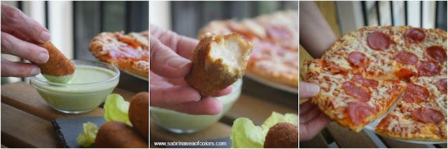 Croquetas de queso con salsa de yogur