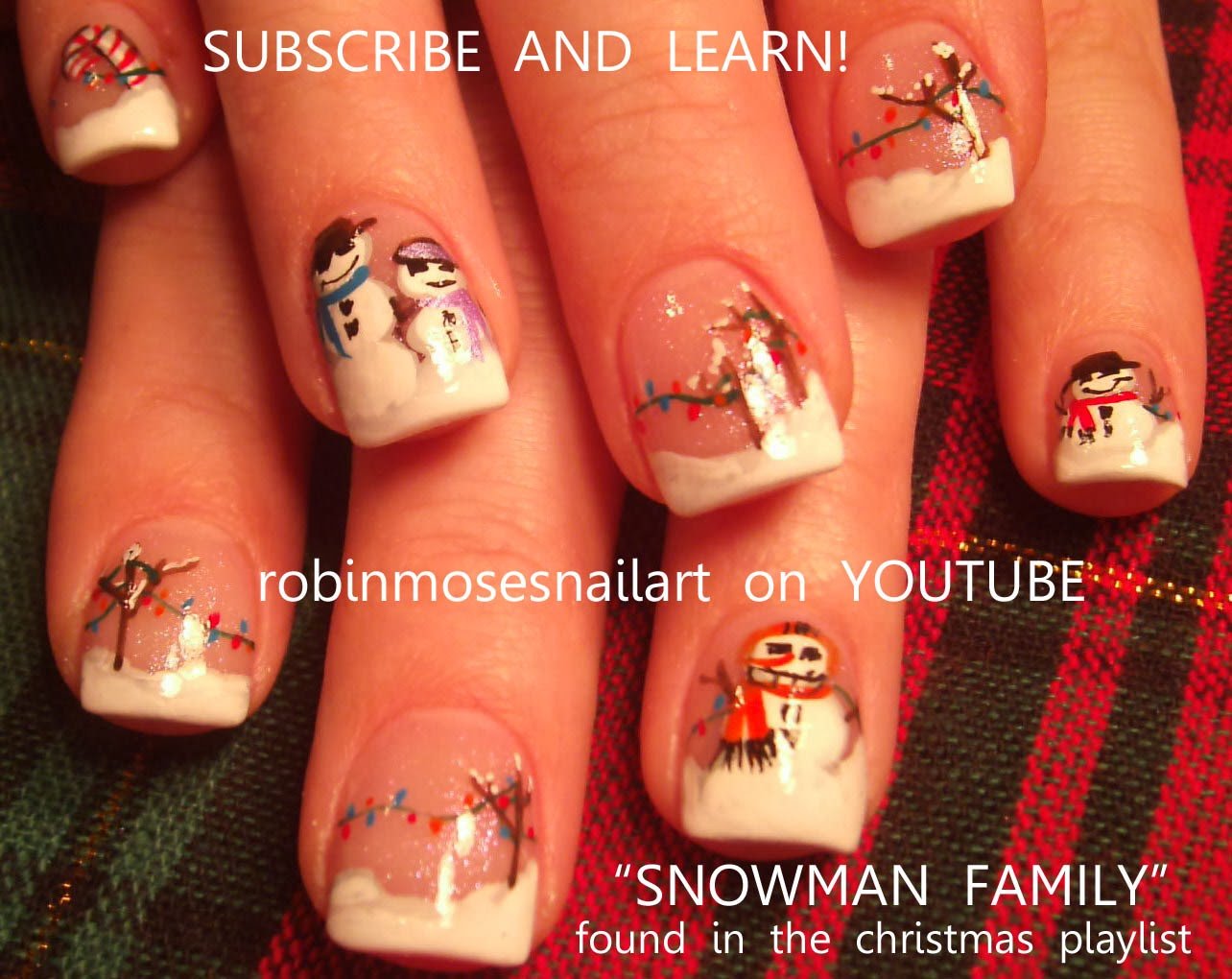 Snowman Nails On A Wintery Holiday Scene