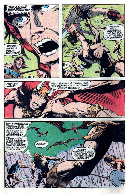Conan the Barbarian v1 #1 marvel comic book page art by Barry Windsor Smith