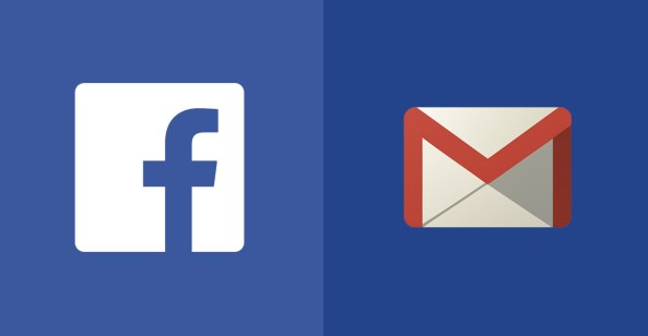 log into facebook with gmail account