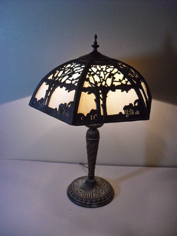 decoupage lamp