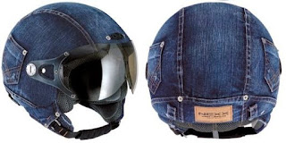 Helm Unik Model Denim