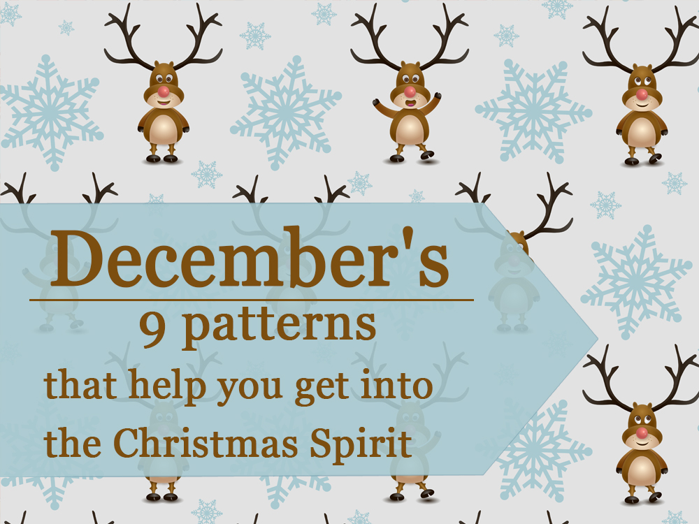 """December's 9 patterns from """"Daily Crazy Pattern"""" project"""