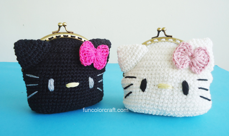 Hello Kitty Shoes and Headband Crochet Patterns FREE - Funcolor Craft | 475x800