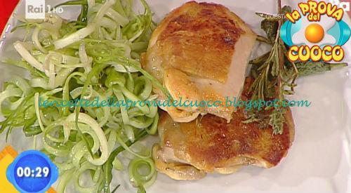Pollo al mattone con puntarelle ricetta Agostini da Prova del Cuoco