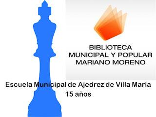 15 años de la Escuela Municipal de Ajedrez de Villa María