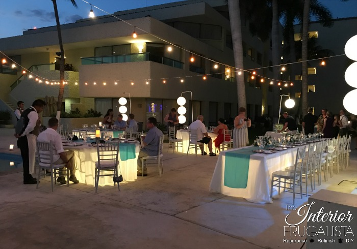 Beach Destination Wedding Illuminated Tables