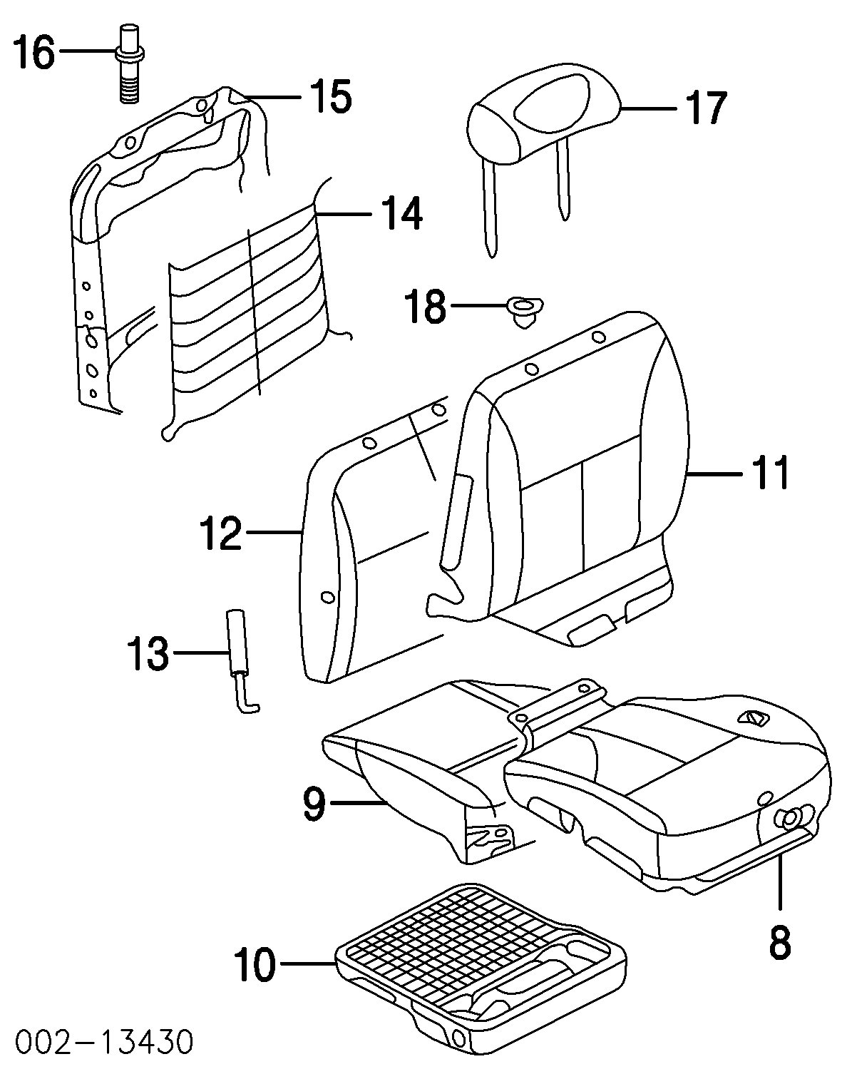 Ford Taurus Front Seat