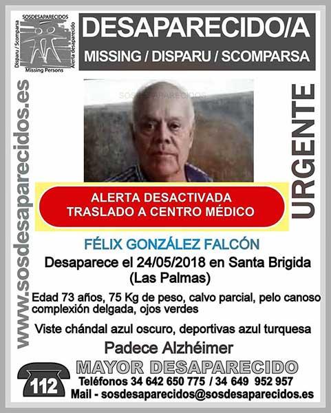 Ha sido localizado Félix González Falcón, hombre que se encontraba desaparecido en Santa Brígida, Gran Canaria