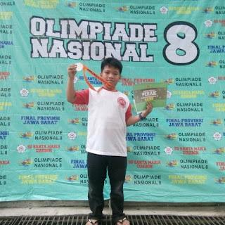 Silver medal dan siap ke final Olimpiade Nasional 8 di Universitas Ma Chung Malang.