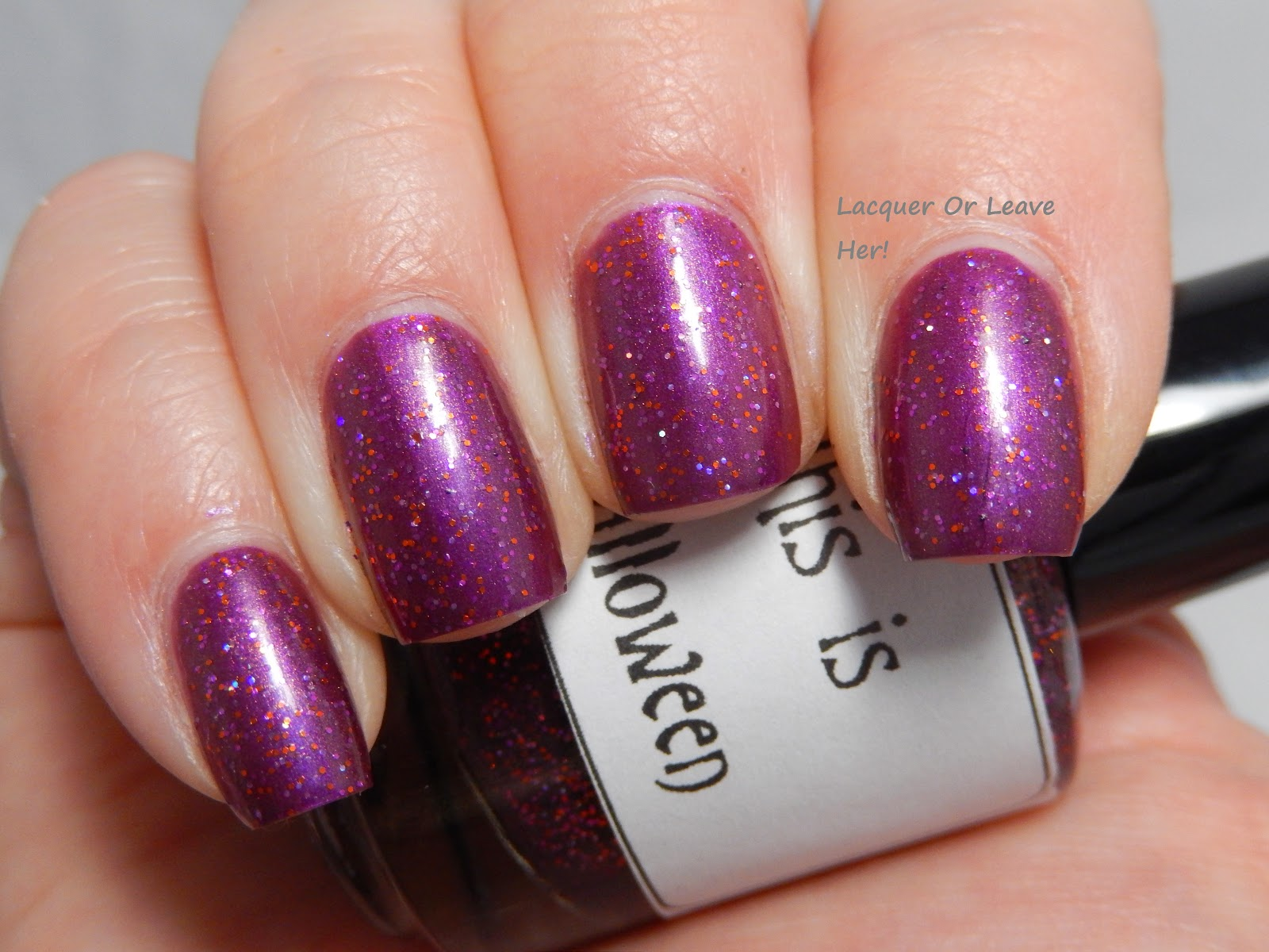 LynBDesigns This Is Halloween over Orly Beautiful Disaster