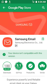 Samsung email on play store