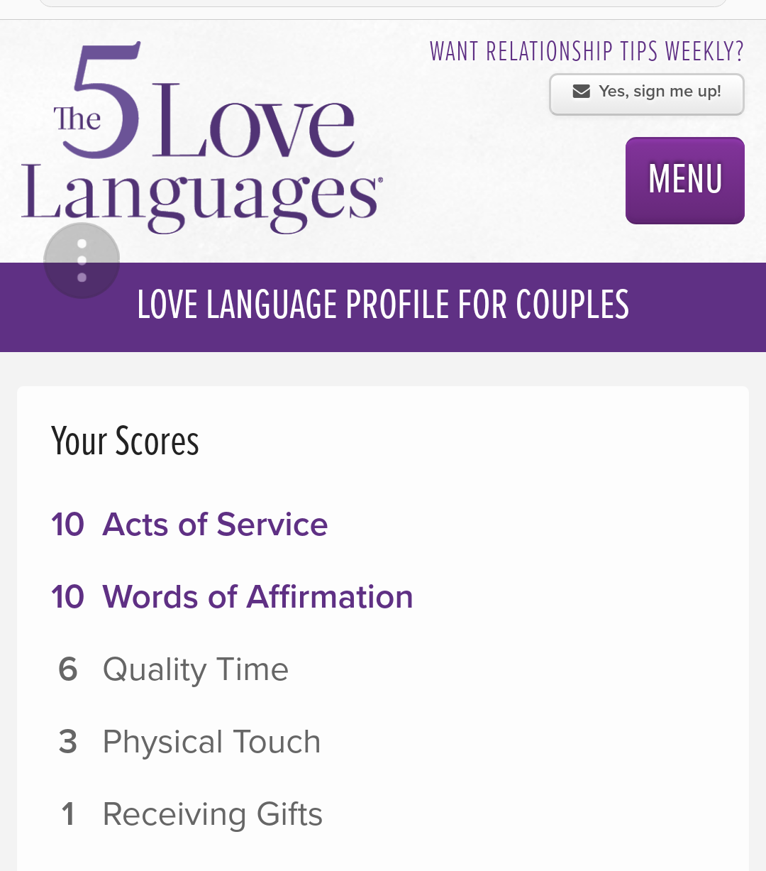 The 5 Love Language Quiz Love Languages Beliefnet