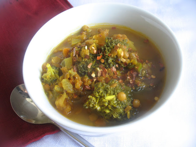 Lentil Broccoli Soup