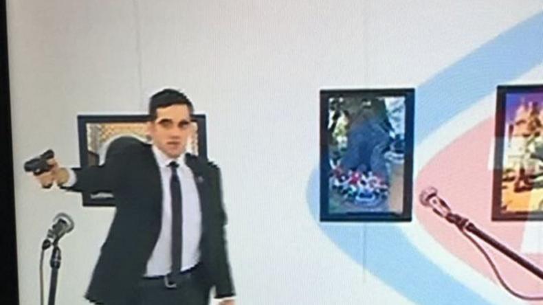 Une photographie du tireur ayant abattu l'ambassadeur russe