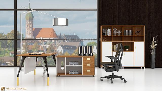Mẫu bàn giám đốc nhập khẩu này được ưa chuộng không chỉ bởi màu sắc đa dạng mà còn bởi thiết kế ấn tượng