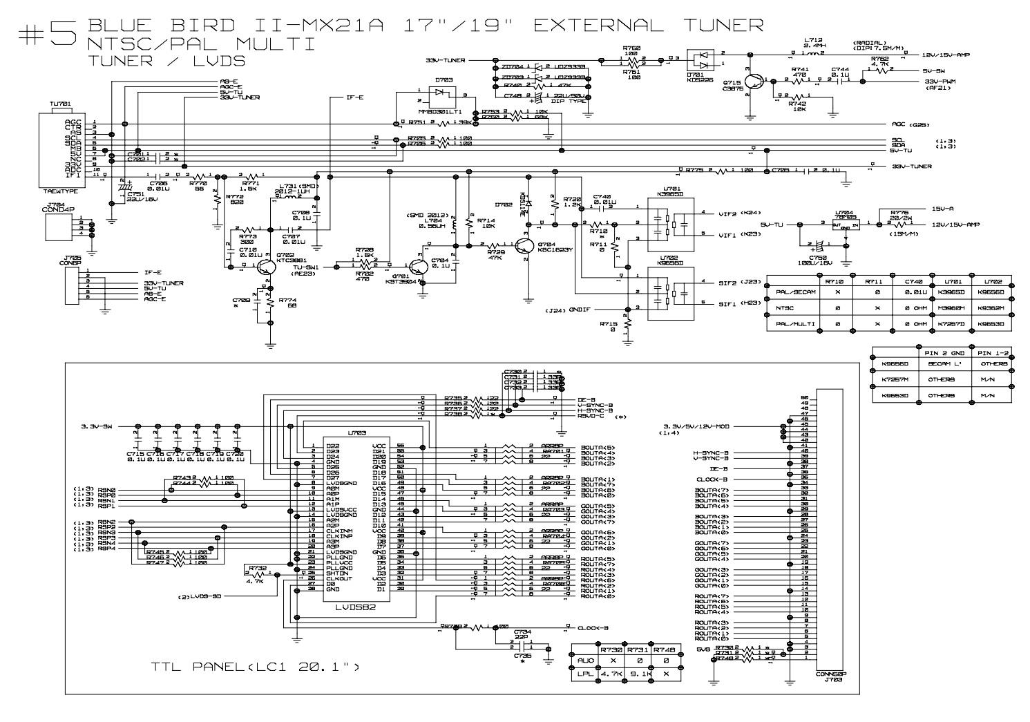 Lg Lcd Monitor Flatron M1721a M1921a  U2013 Circuit Diagram