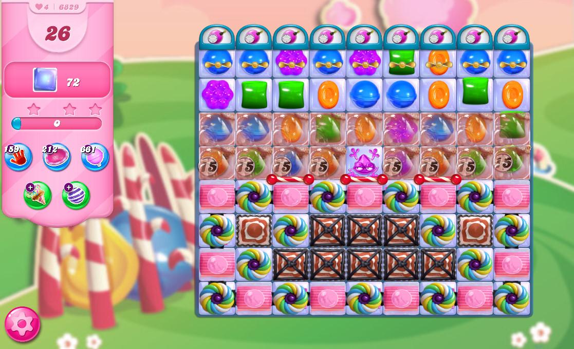 Candy Crush Saga level 6829