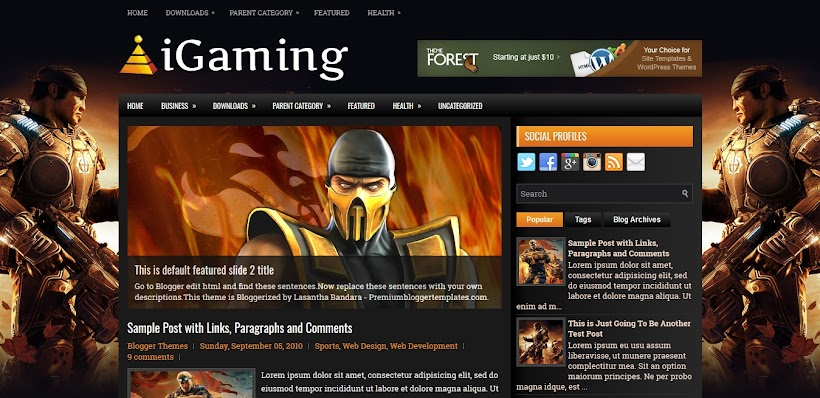 iGaming Free Blogger Template