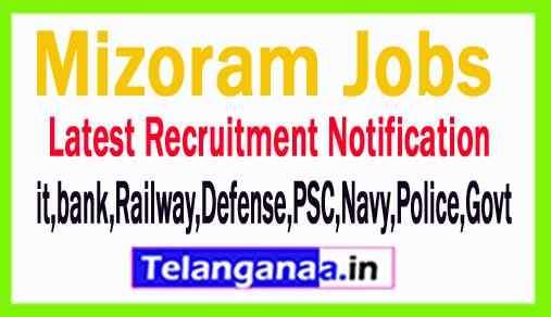 Latest Mizoram Government Job Notifications All India Govt
