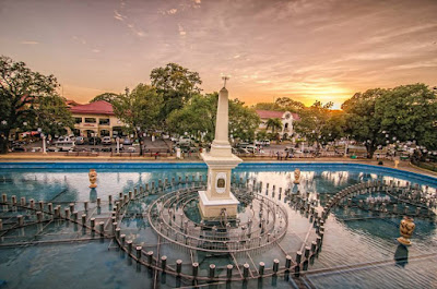 Plaza Salcedo Dancing Fountains Vigan City Philippines