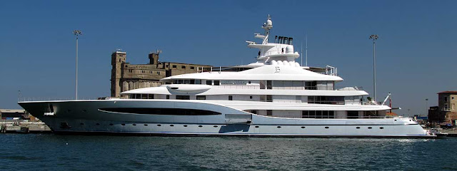 Mayan Queen IV superyacht, IMO 1009479, port of Livorno