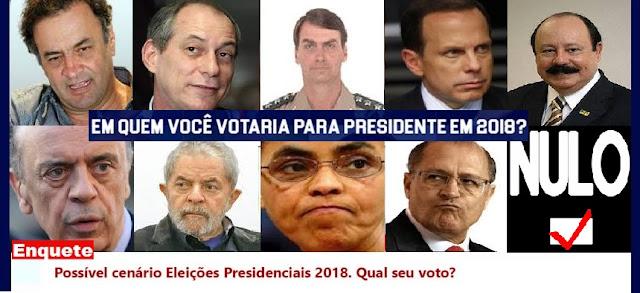 Enquete: Eleições Presidenciais 2018