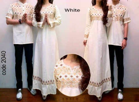 2Bahan Katun Paris ORI  Ornament Bordir  fit to  XL,pjg140cm, cowk,ld112,XL