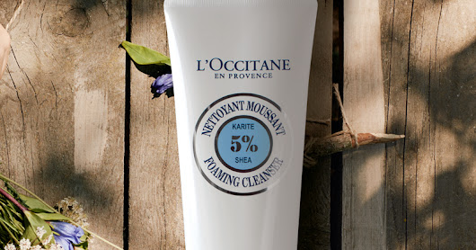 L'OCCITANE FOAMING CLEANSER & DRY SKIN HAND CREAM