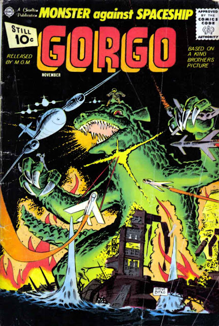 Gorgo v1 #4 charlton monster comic book cover art by Steve Ditko