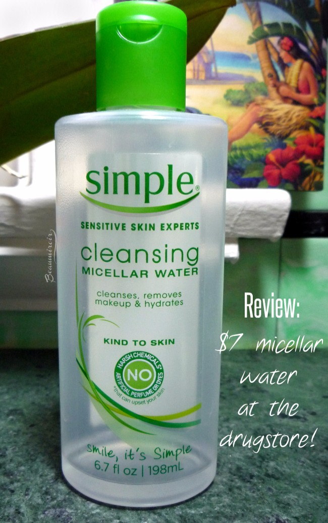 Review of Simple Cleansing Micellar Water, and affordable one-step cleanser available at the drugstore.