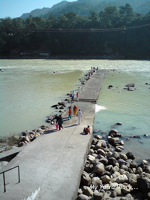 Last Year - A Private Ghat for a holy dip in the Ganges in the Dayananda Ashram in Rishikesh