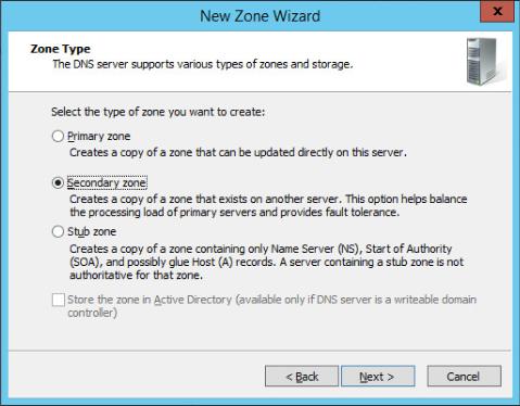 Figure 4: Step 4 of migrating a Linux BIND name server to a Windows Server DNS server.